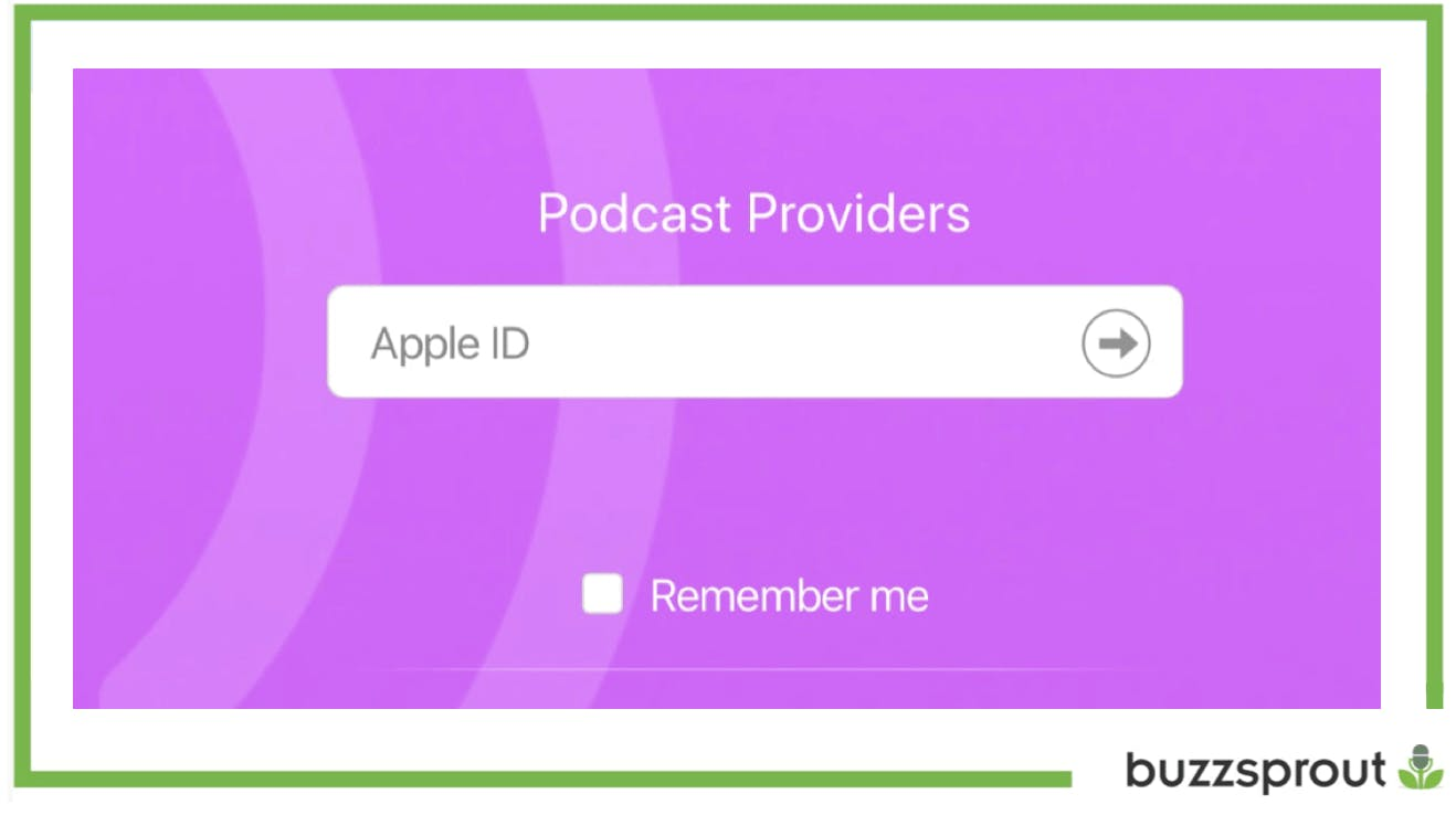 iTunes Connect Apple ID log in page with green box