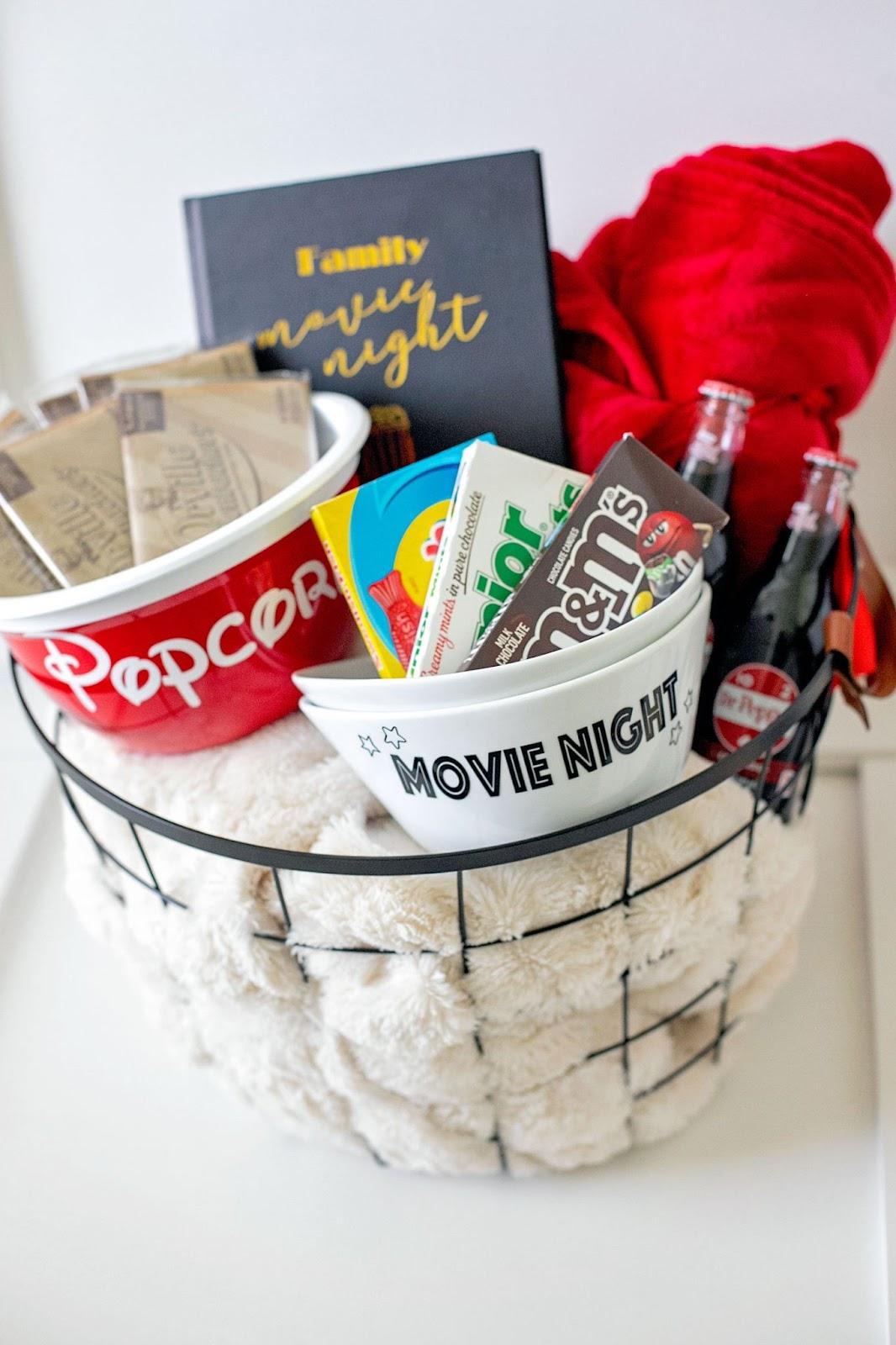 Family movie gift basket idea.