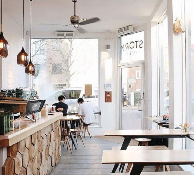 Sự tối giản đến mức tối đa trong không gian quán cà phê
