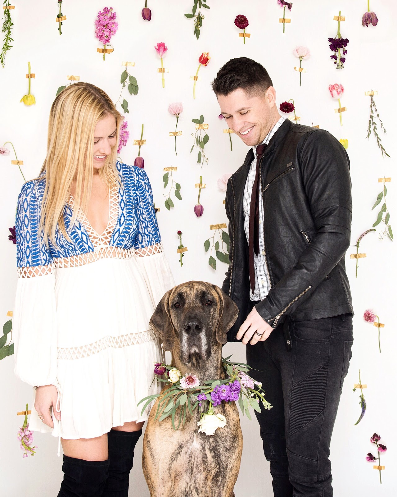 Emily, her husband and Great Dane