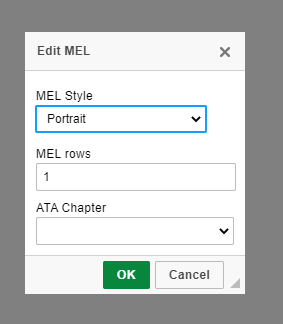 edit MEL minimum equipment list