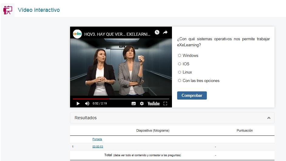 Pantallazo de video interactivo