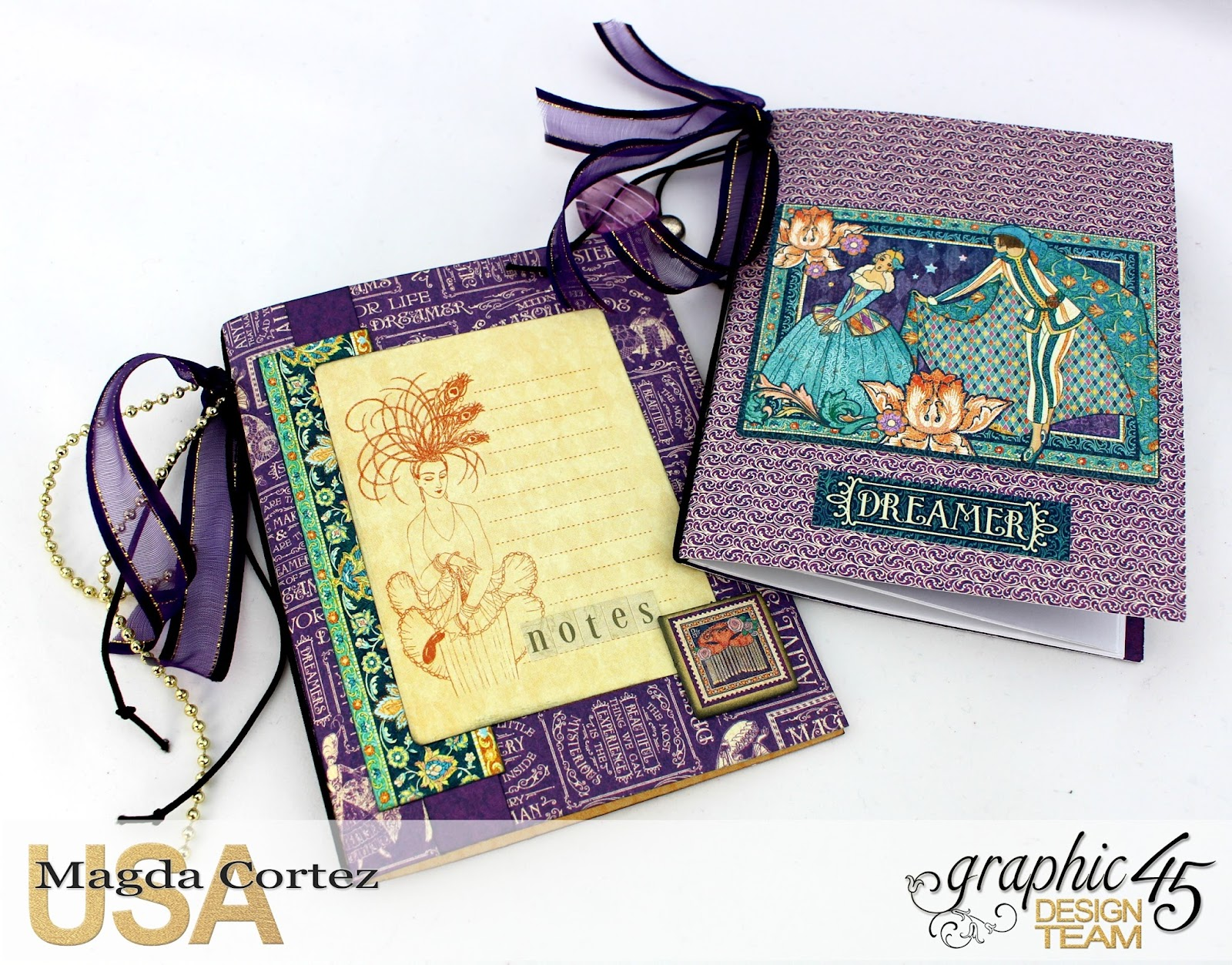 60 Second Tutorial Mini Notebooks, Midnight Masquerade, By Magda Cortez, Product by Graphic 45, Photo 06 of 07, with Tutorial.jpg
