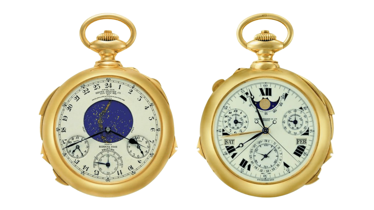 Photo of the Patek Philippe Henry Graves Supercomplication pocket watch