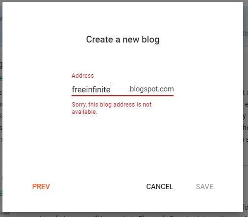 Insert your blog address