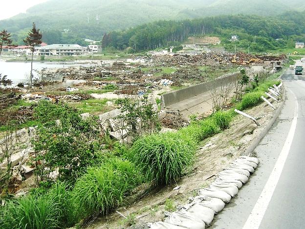 草, 屋外, 山, 道路 が含まれている画像 自動的に生成された説明