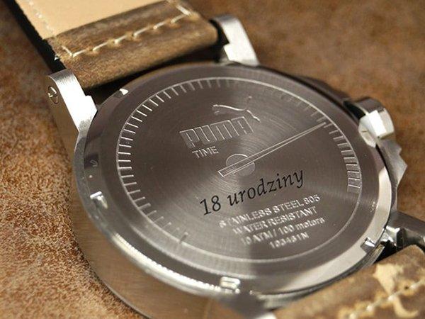 Grawer na 18 urodziny na zegarku