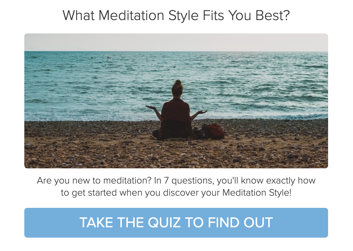 Which meditation style fits you best quiz cover
