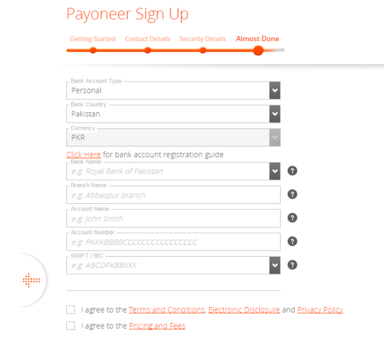 Payoneer Đăng ký Bước cuối cùng
