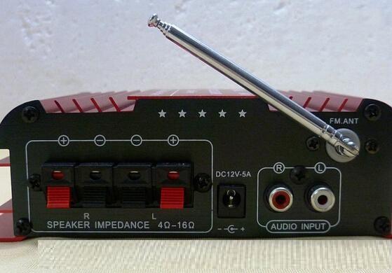 Mini USB SD FM stéréo trois en 1 Kentiger HY600 Amplificateur couleur bleue Microphone entrée de la télécommande 2 CH Car Amplificateur www.avalonlineshopping.com 5.jpg