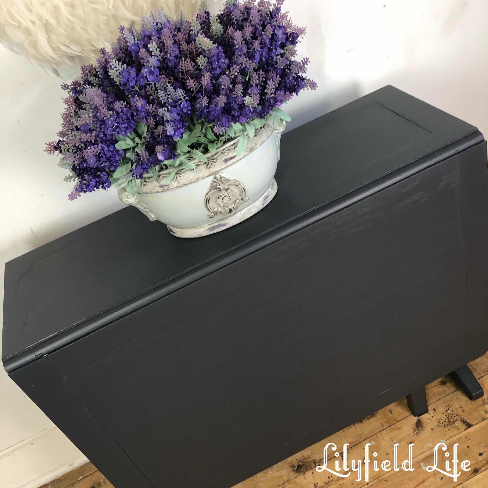 vintage table Jolie graphite lilyfield life