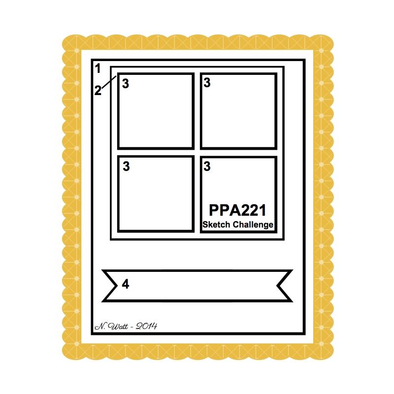 Pals Paper Arts PPA221 Sketch Challenge at Wild West Paper Arts