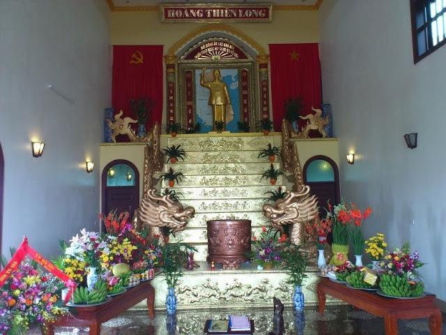 Một hình ảnh được cho là điện thờ Hồ Chí Minh của tín đồ đạo Hồ Chí Minh. Ảnh: Blog Tìm tòi và Lượm lặt.