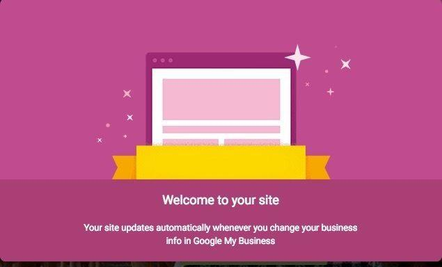google website welcome to your site graphic