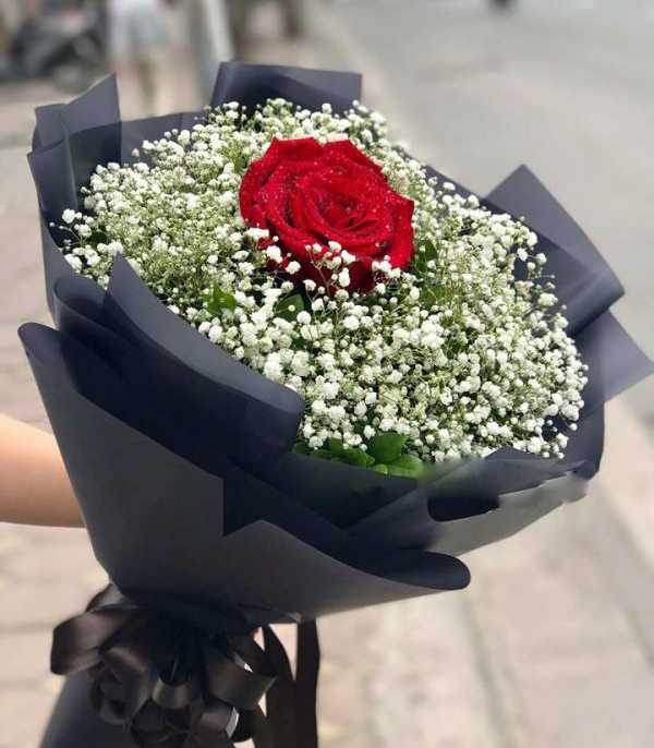 bó hoa cúc baby