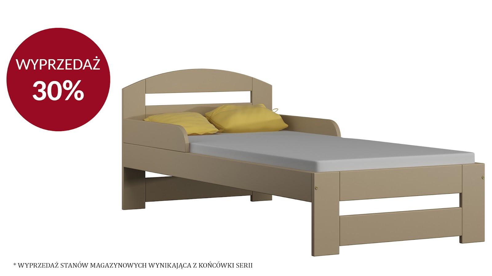 Łóżko TIMI S 180X80 – WANILIA