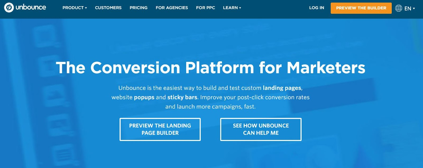 Unbounce Landing Page Picture