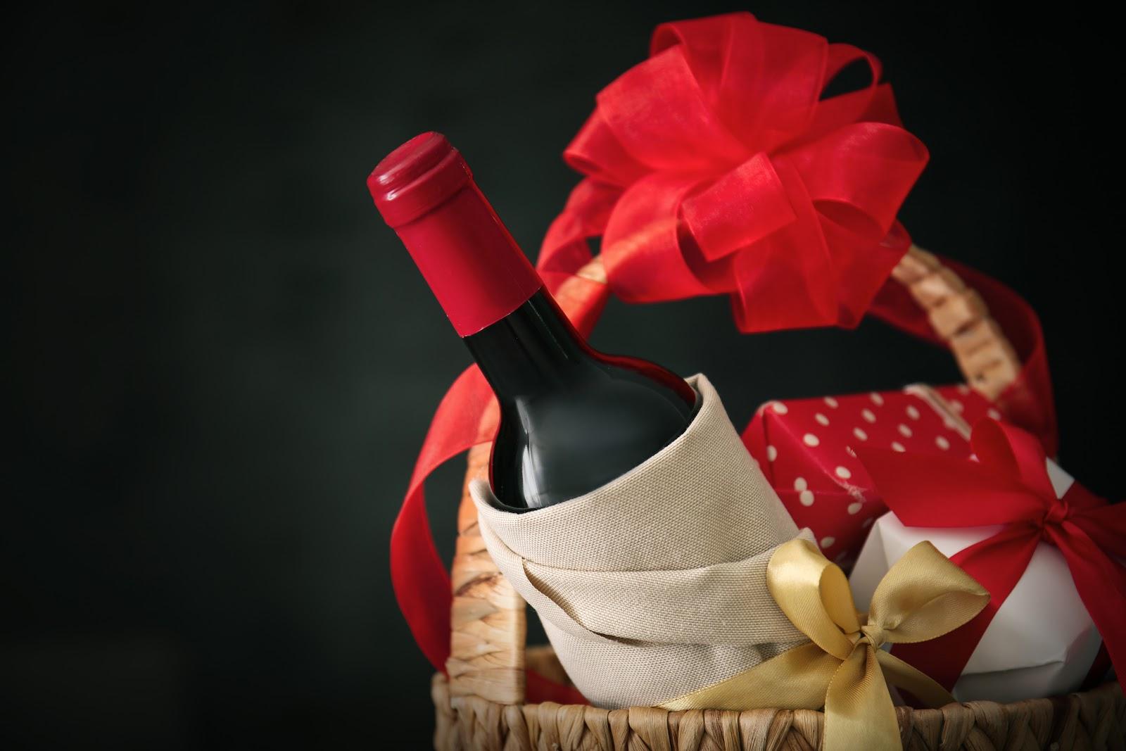fancy wine as a party favor