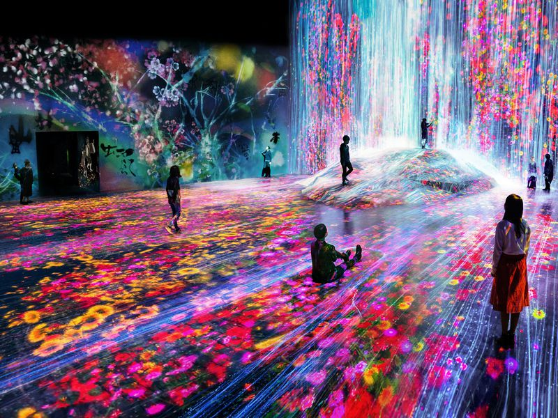 Digital art museum on the island of Odaiba