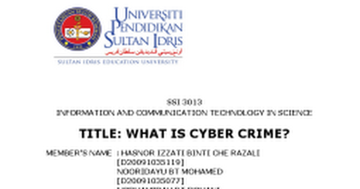 Cyber crime essay topics