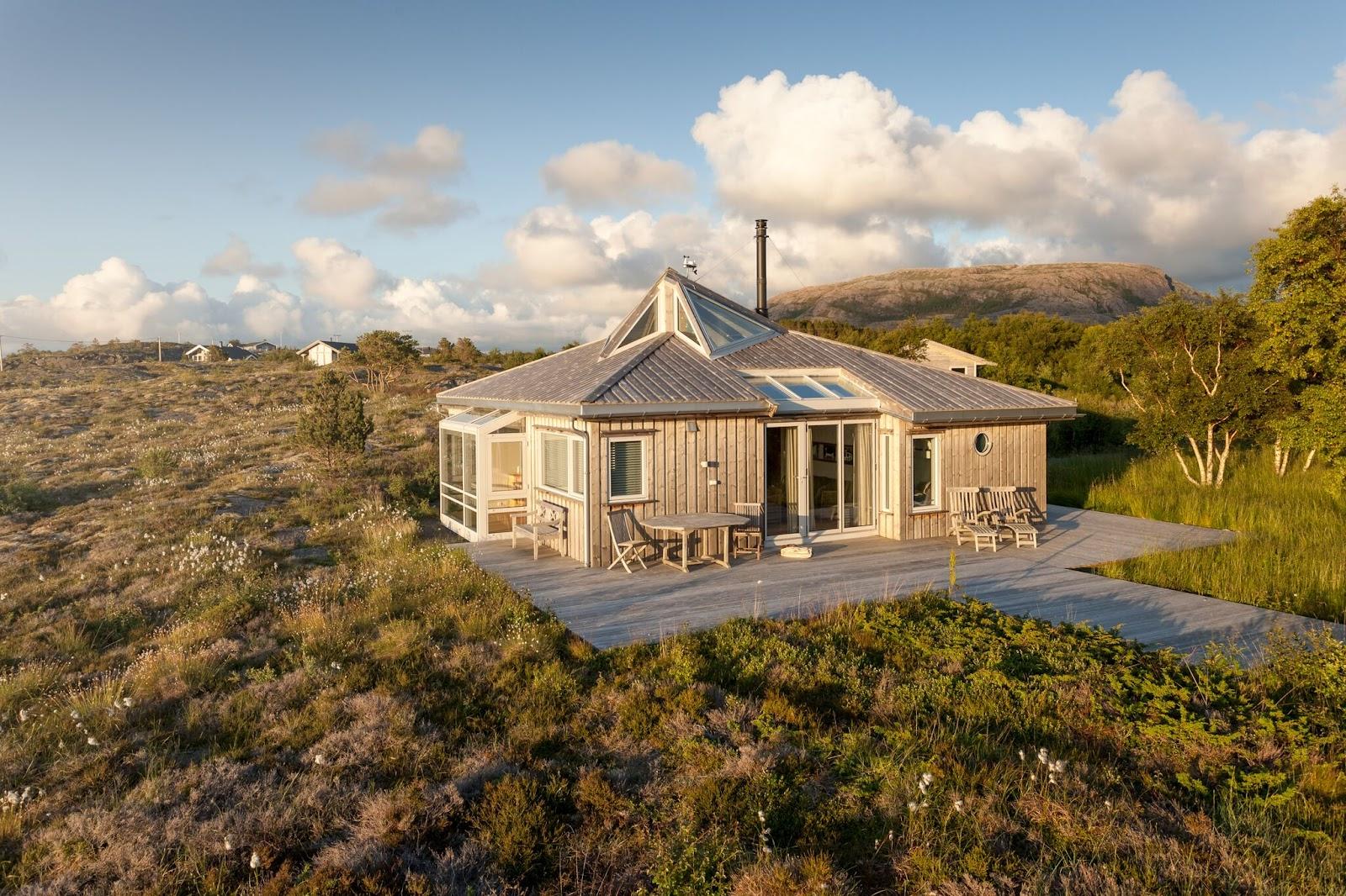Miljøvennlig treverk til hytte
