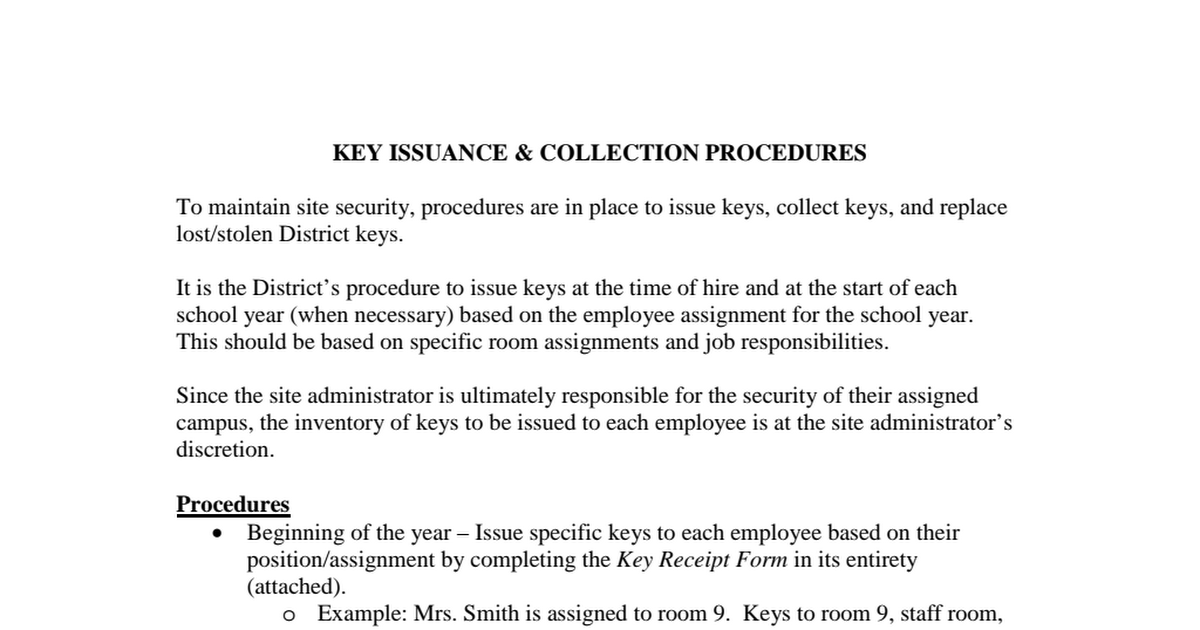 Key Procedures pdf - Google Drive