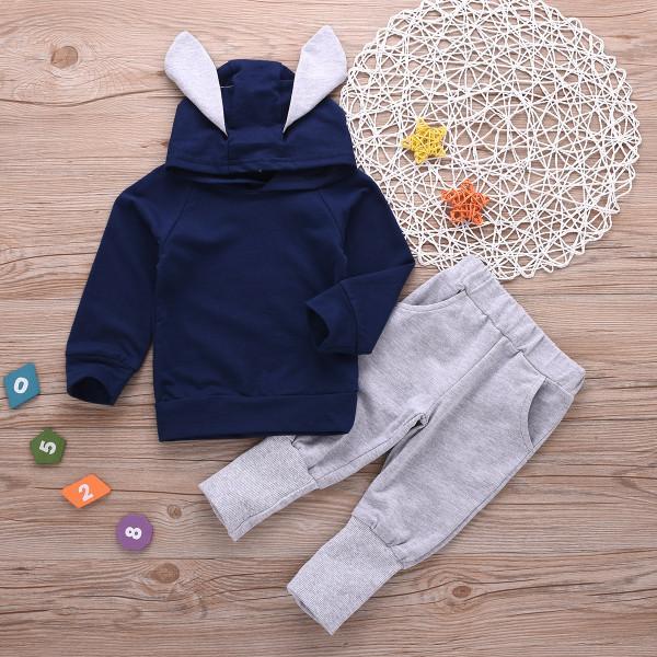 Toddler Boy Rabbit Hoodie & Joggers