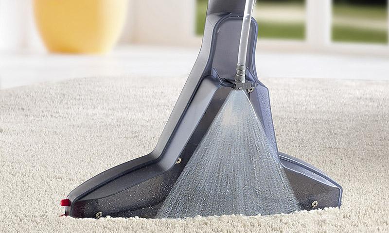 Работа моющего пылесоса
