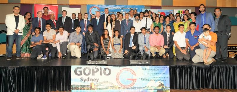 GOPIO-Sydney team with awardees and VIPs at Gyan 2017
