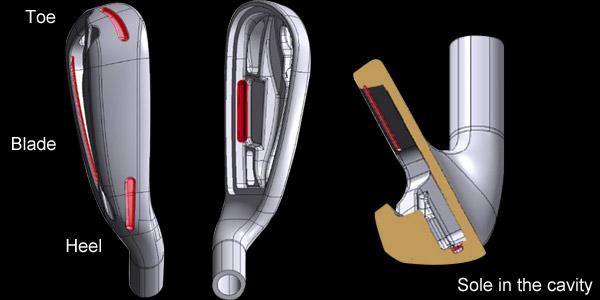 FOUR SLITS of THE HEAD - cải thiện hiệu suất lực đẩy đầu gậy tiết kiệm trọng lượng