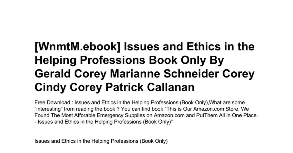 Issues and ethics in the helping professions book onlyc google issues and ethics in the helping professions book onlyc google drive fandeluxe Images