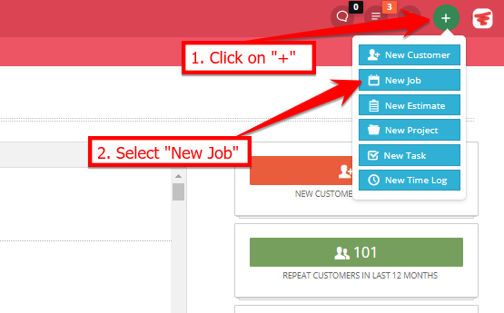 how to create a job work order servicefusion