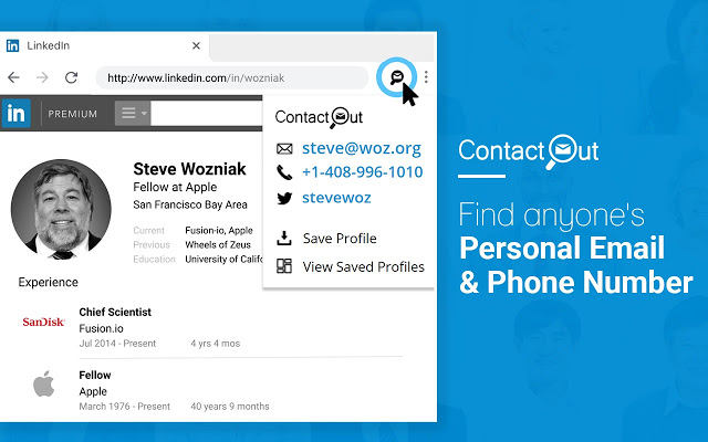 Contact Out screenshot