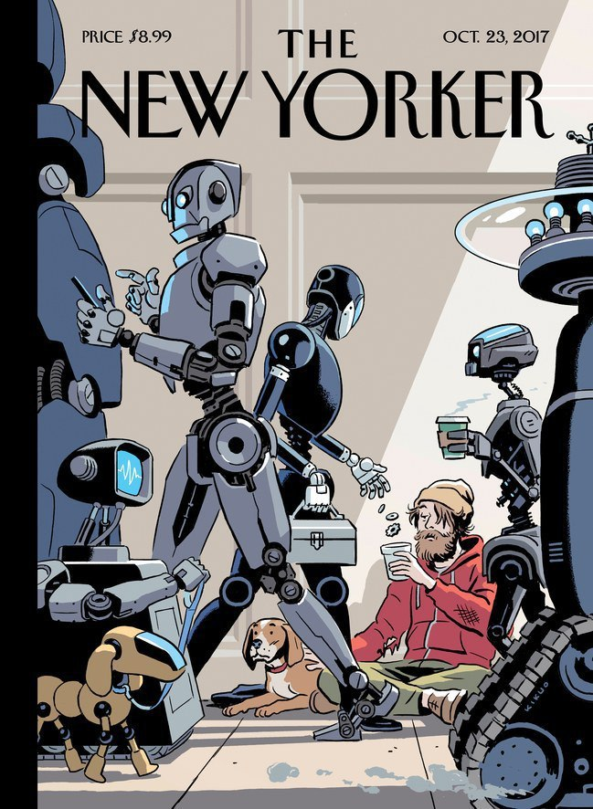 robotics cover of New Yorker magazine
