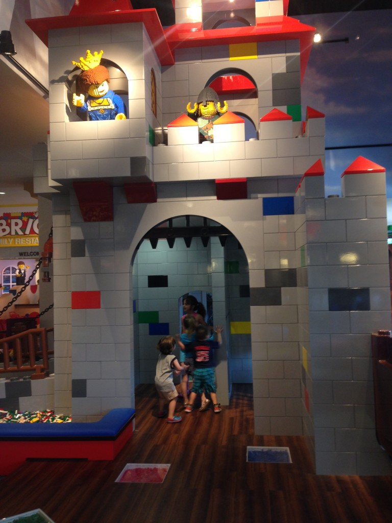 The lobby of the Legoland Hotel.