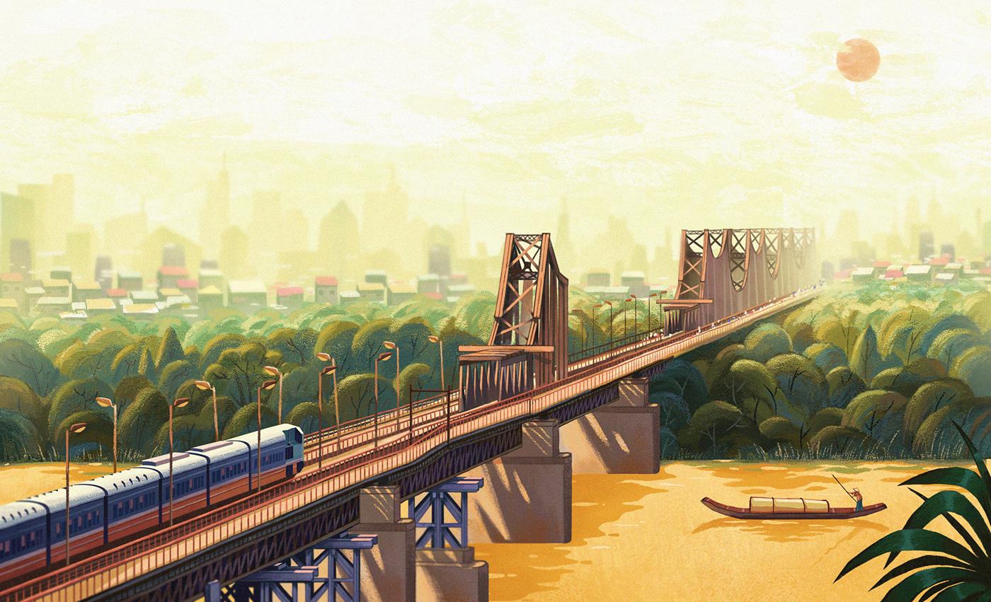 'Người Mẹ sông Hồng' Illustration Series