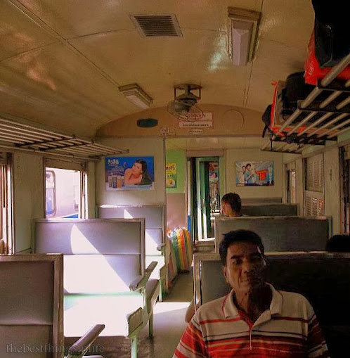 December 2011 - The interior of a Thailand's 3rd class train from Hat Yai to Bangkok