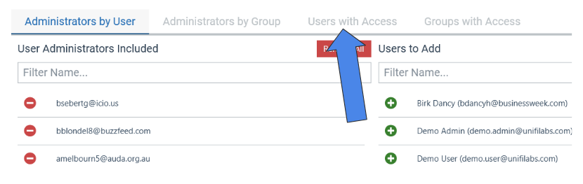 Manage User Access to Library