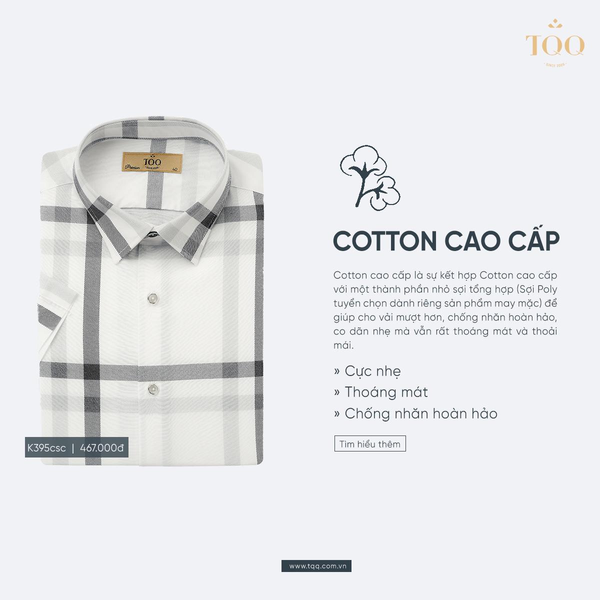 Vải Poly Cotton cao cấp là chất vải có khả năng chống nhăn hoàn hảo