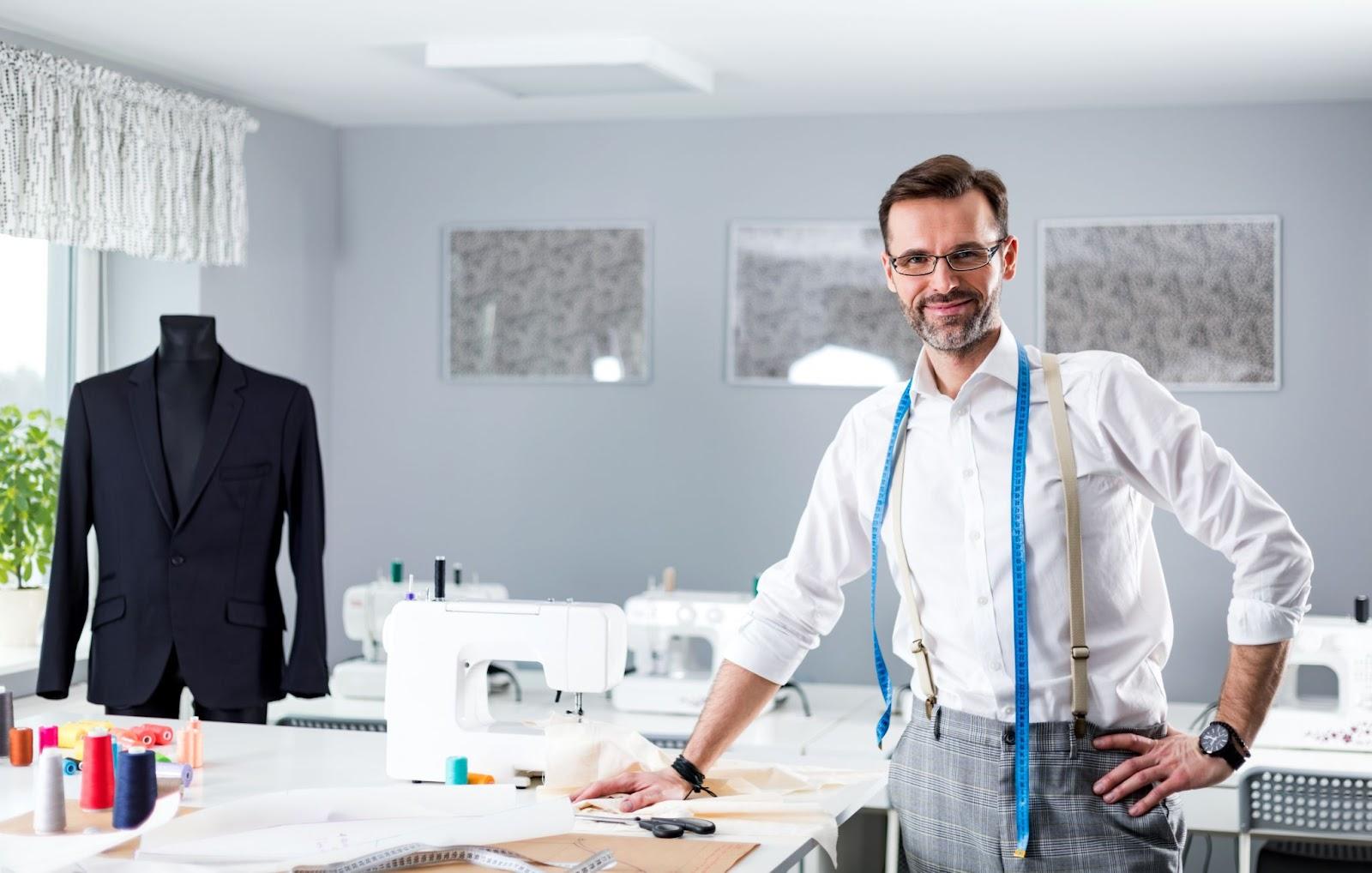 Male fashion designer working
