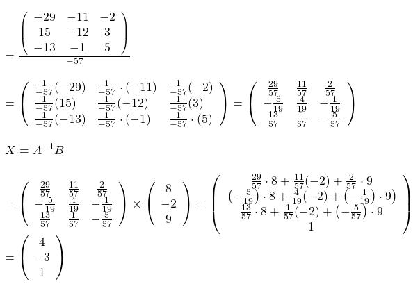 inverse calculation