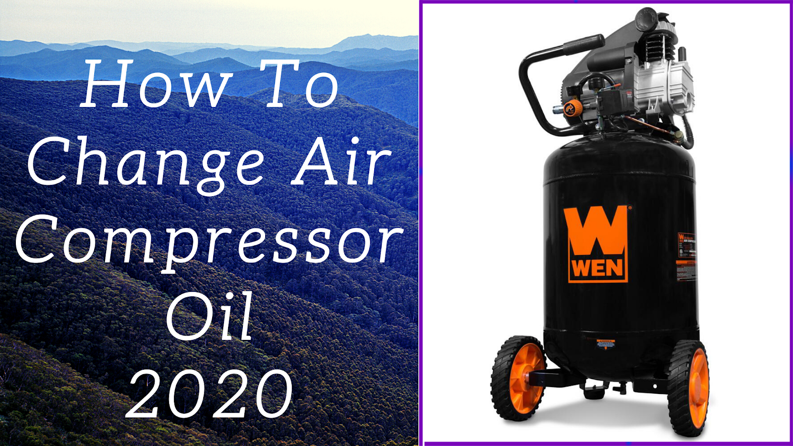 how to change air compressor oil 2020