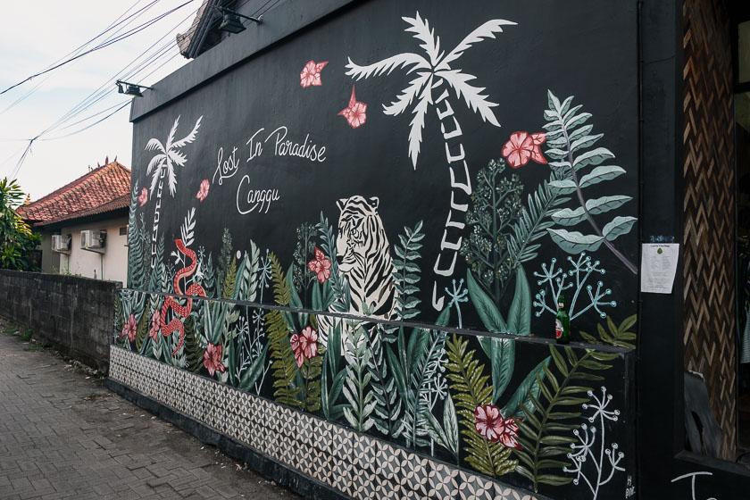 Street art in Canggu.