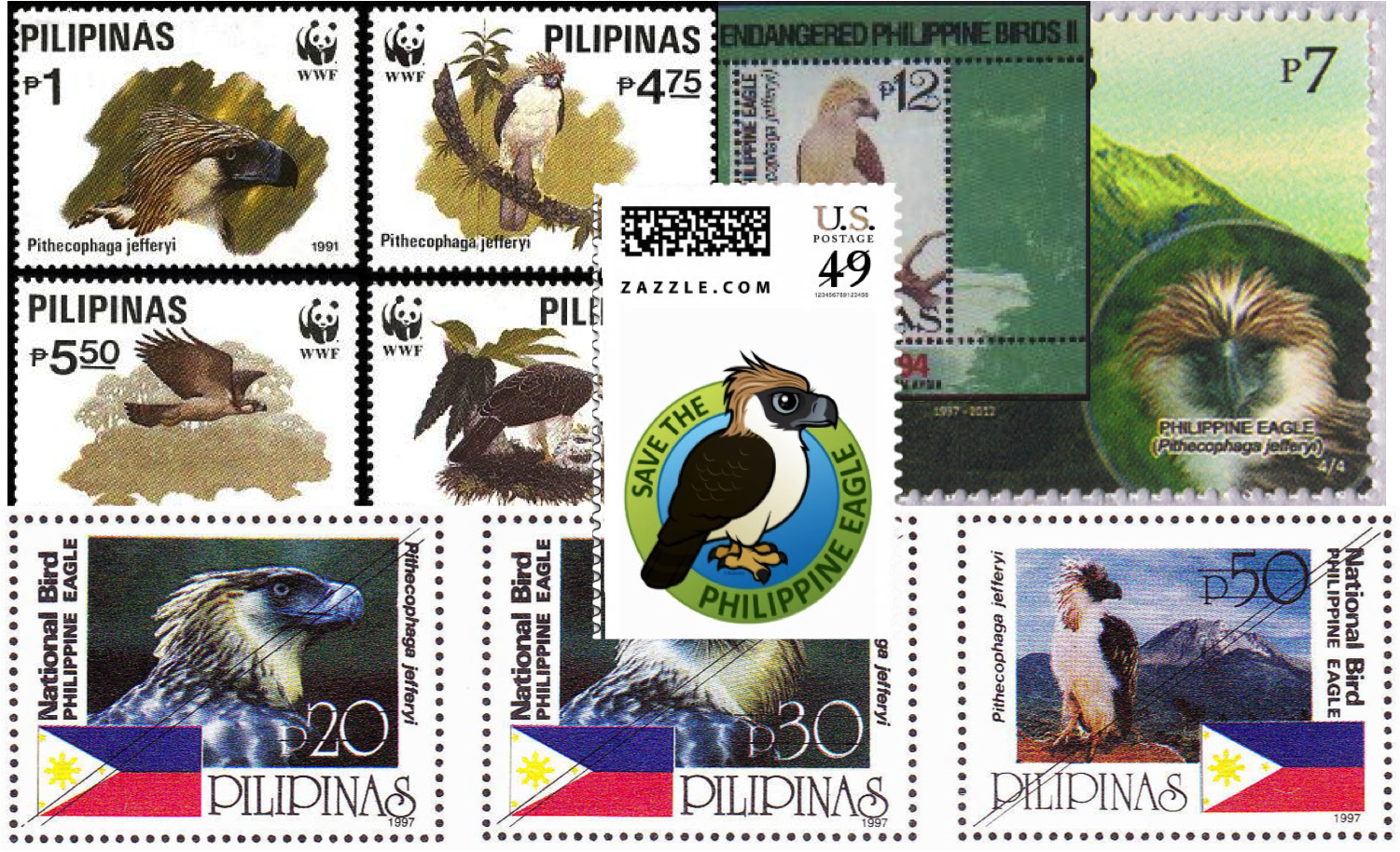 Philippine Eagle stamp collage.png