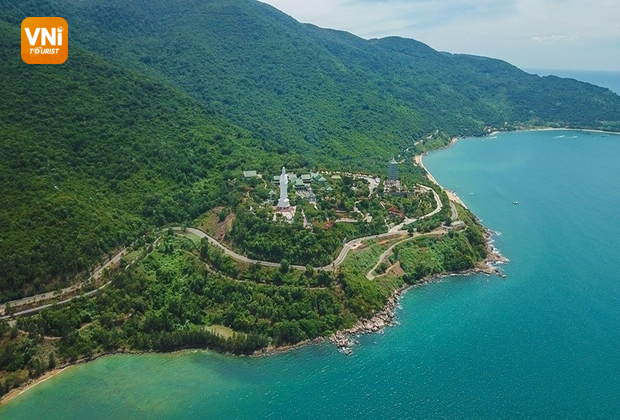 Son Tra peninsula in Danang, Vietnam