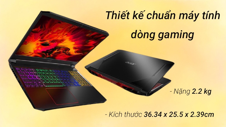 Laptop ACER Nitro 5 AN515-56-51N4 (NH.QBZSV.002)   Thiết kế chuẩn máy tính