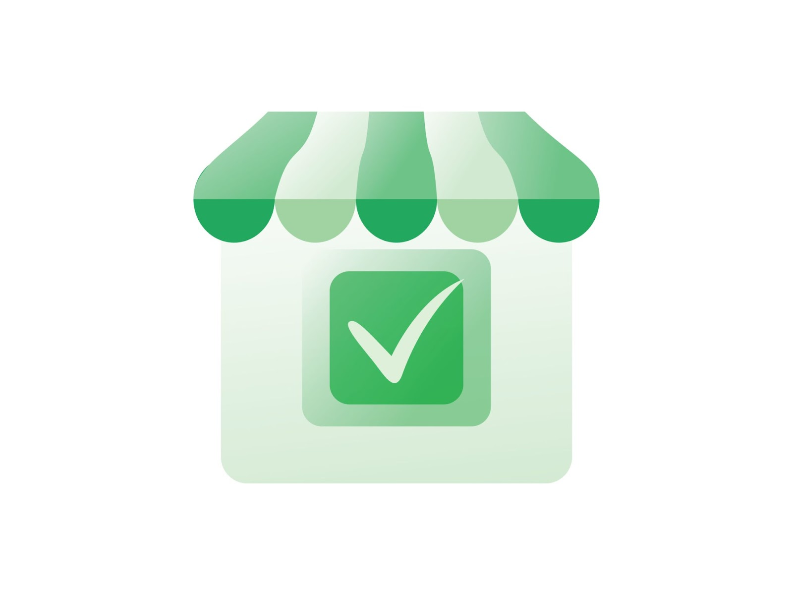 Google mybusiness icon with green check