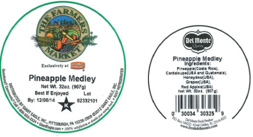 Label, The Farmers Market Pineapple Medley, 32 oz.