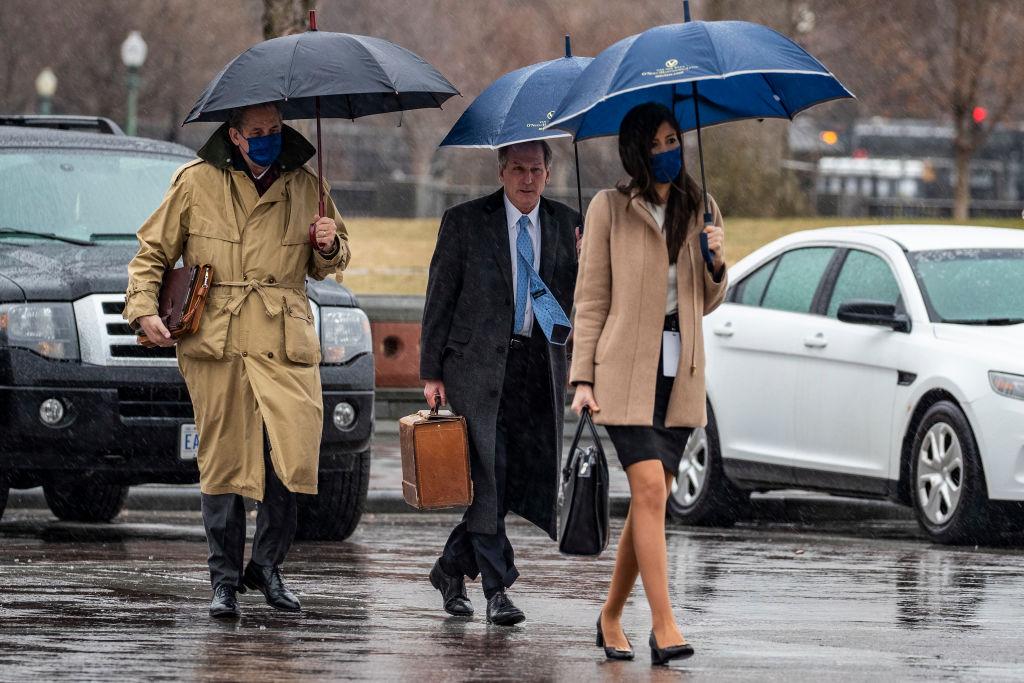 Members of former President Donald Trump's defense team Bruce Castor and Michael van der Veen