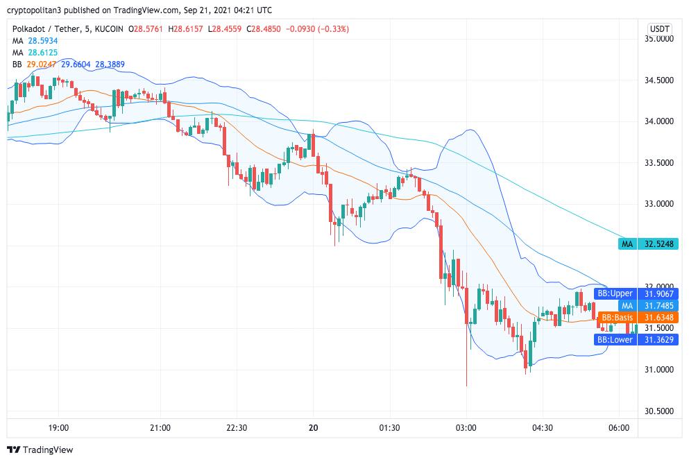 Polkadot Price Analysis: DOT corrects below $30 resistance 1